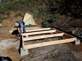 Building the second tent platform